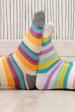 Couple in socks Stock Image