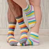 Couple in socks Stock Photos