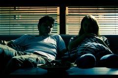 Couple on the sofa Stock Photo