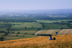 Couple on the South Downs Royalty Free Stock Photography
