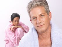 Couple and spa. Stock Image