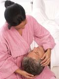 Couple and spa. Royalty Free Stock Photo