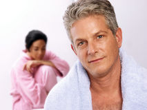 Couple and spa. Stock Photography