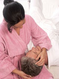 Couple and spa. Royalty Free Stock Images