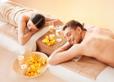 Couple in spa Royalty Free Stock Images