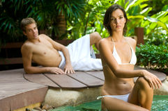 Couple At Spa Stock Photography
