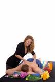 Couple, spa center, massage Stock Photos