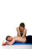 Couple, spa center, massage Stock Images
