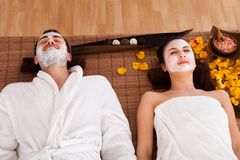 Couple In Spa Centre Stock Photos