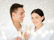 Couple in spa Stock Image
