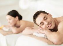 Couple in spa Stock Photos