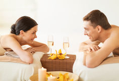 Couple in spa stock photography