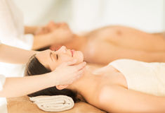 Couple in spa Stock Photos