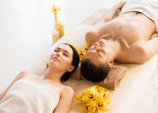Couple in spa Royalty Free Stock Photos