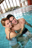 Couple in spa pool Royalty Free Stock Photo