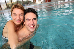 Couple in spa pool Stock Photography