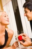 Couple and special proposal Royalty Free Stock Photography