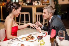 Couple and special proposal Stock Image