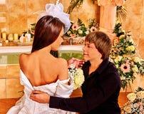 Couple spend wedding night Stock Photo