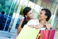 Couple spending money Stock Image