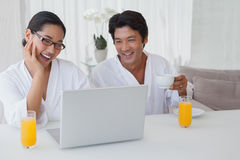 Couple spending the morning together Stock Photography