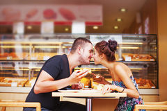 Couple spending romantic day together Stock Image