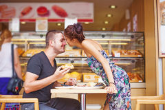 Couple spending romantic day together Stock Photos