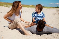 Couple Spending Summer with Son Stock Photos