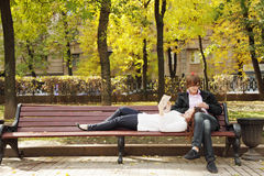Couple spending time Royalty Free Stock Image