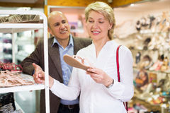 Couple spending time in store Stock Photography