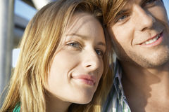 Couple Spending Time Together Outdoors Stock Images