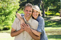 Couple spending time together in park Stock Photo