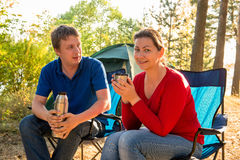 Couple spending the weekend in nature Stock Photos