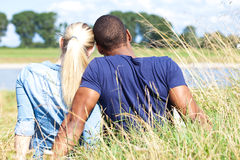 Couple spends time outside. Couple spends some time outside Stock Images