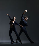 Couple of sporty ballet dancers performing Stock Photography