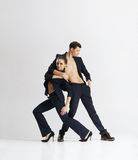 Couple of sporty ballet dancers performing Stock Image