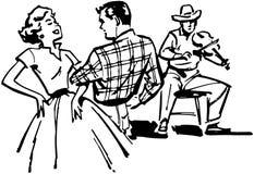 Couple Square Dancing stock illustration