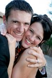 Couple Squeeze Royalty Free Stock Photo