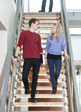 Couple in the stairs Stock Photos