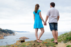 Couple stand near the sea Royalty Free Stock Photography