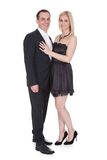 Couple stand over white background Stock Images
