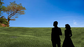 Couple stand there with nice background Stock Photography