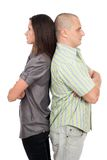 Couple standing back to back Stock Image