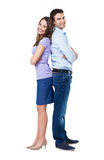 Couple standing back to back Royalty Free Stock Photography