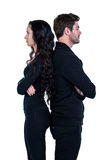 Couple standing back to back after argument Royalty Free Stock Photo