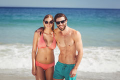 Couple standing on beach Royalty Free Stock Photography