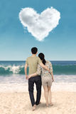 Couple standing at beach Royalty Free Stock Image