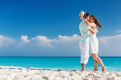 Couple standing at beach Stock Images