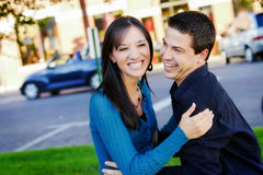 Couple Standing Close Stock Photography
