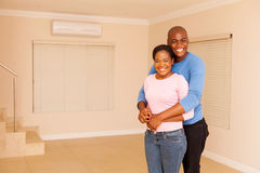 Couple standing indoors Royalty Free Stock Photography
